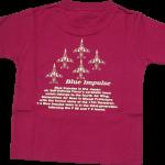 ブルーインパルス 子供Tシャツ バーガンディ(112)